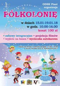 Półkolonie 2017 - plakat