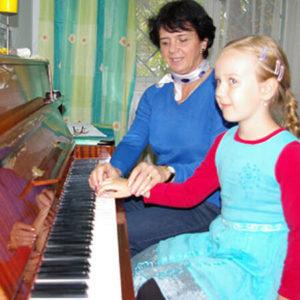 Sekcja gry na pianinie
